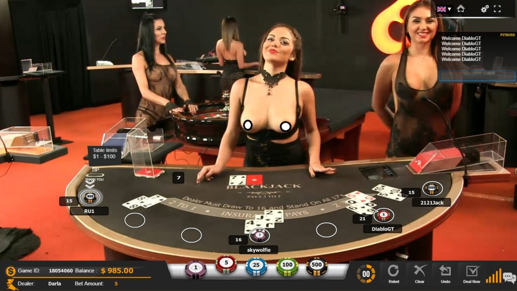 live dealer topless